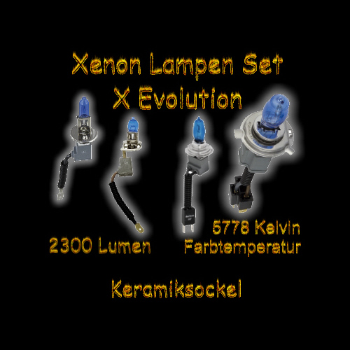 x evolution xenon look lampen birnen h1 h3 h4 h7 100w ebay. Black Bedroom Furniture Sets. Home Design Ideas
