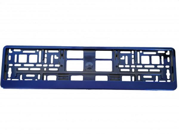 Intense Hochglanz Chrom Kennzeichenhalter Nummernschildhalter Blau Metallisiert