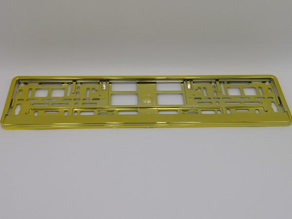 Intense Hochglanz Chrom Gold Kennzeichenhalter Nummernschildhalter Gelb Metallisiert