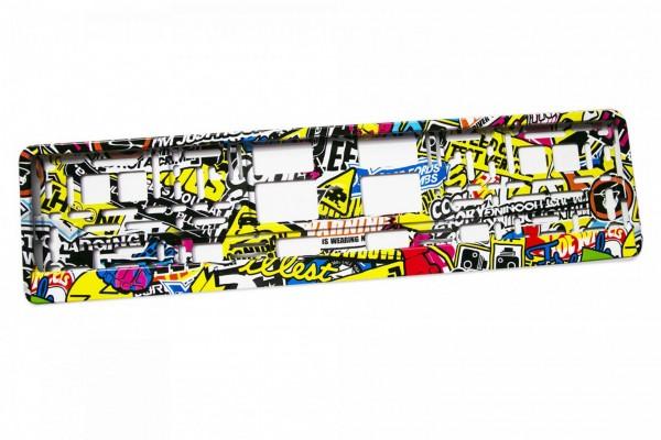 Intense Hydrografik Kennzeichenhalter Nummernschildhalter Stickerbomb