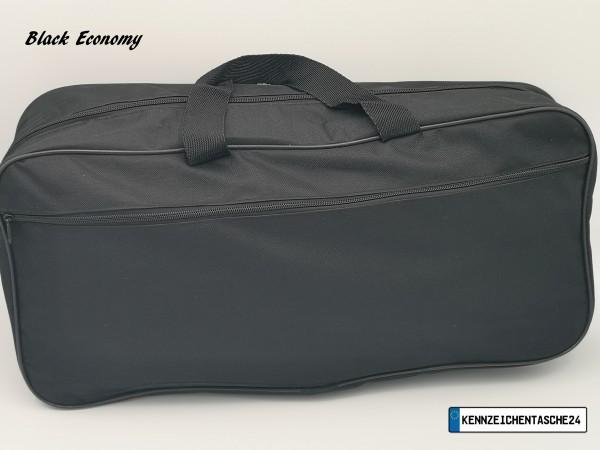 Black Economy Extra Stark Nylon Kennzeichentasche Zulassungstasche Nummernschildtasche Schildertasch