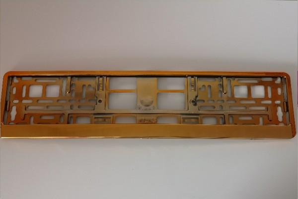 Intense Orange Hochglanz Metallic Kennzeichenhalter Nummernschildhalter Kennzeichenverstärker 520